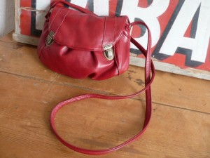 sac cartable rouge cerise