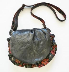 sac besace noir cuir