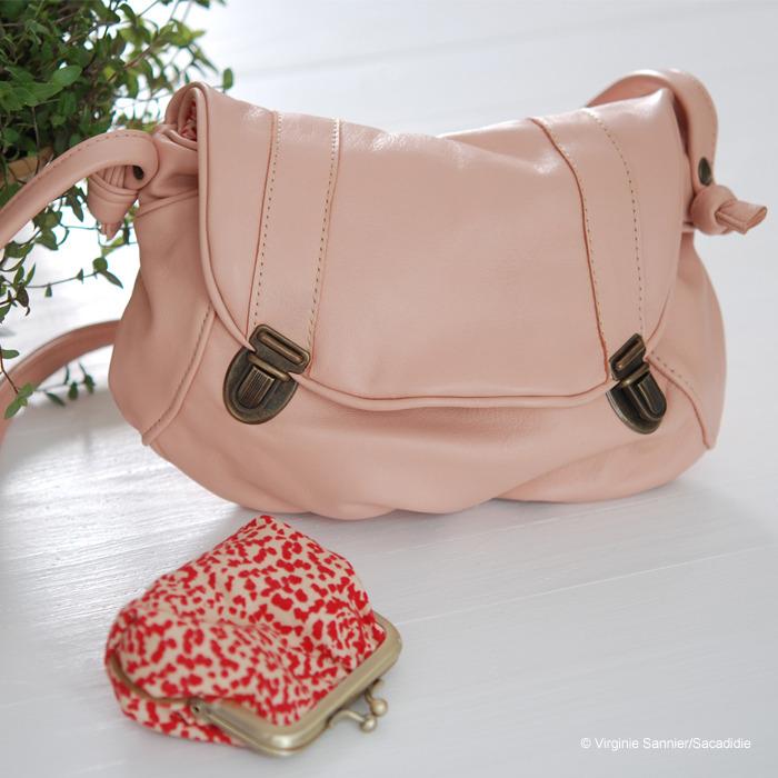 sac rose poudre