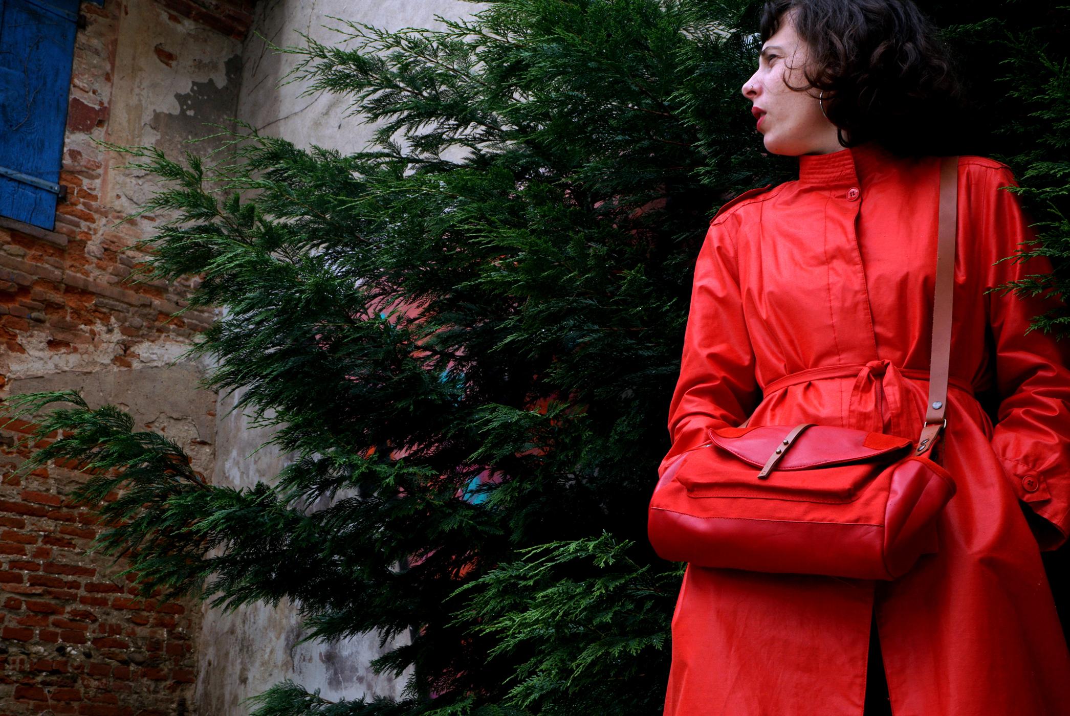 sac rouge pièce unique