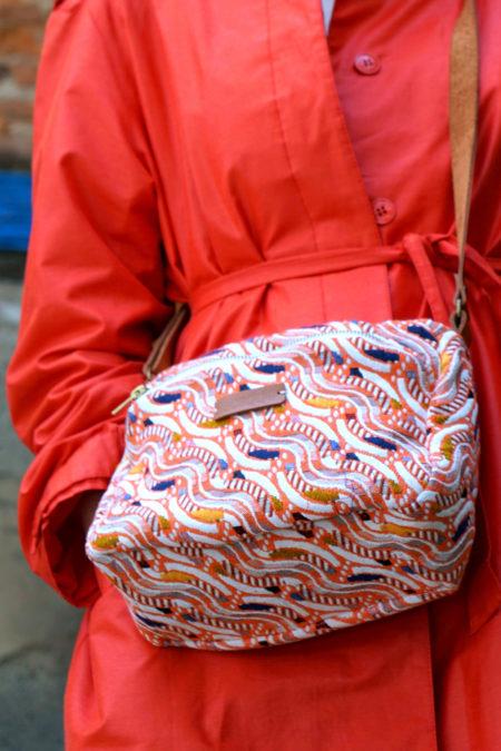 sac en tissu jacquard réalisé par la créatrice Toulousaine Elodie Marville