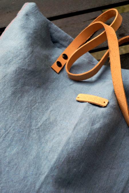 sac dont la matière est lin et coton